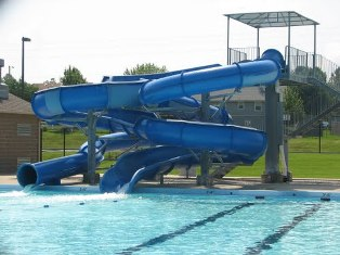 Outdoor Pool Slides