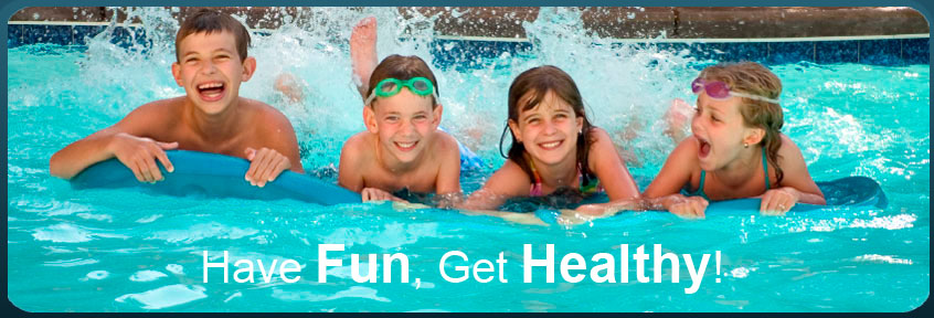 Kids Practicing Kicking in Pool - Have Fun, Get Healthy! Opens in new window
